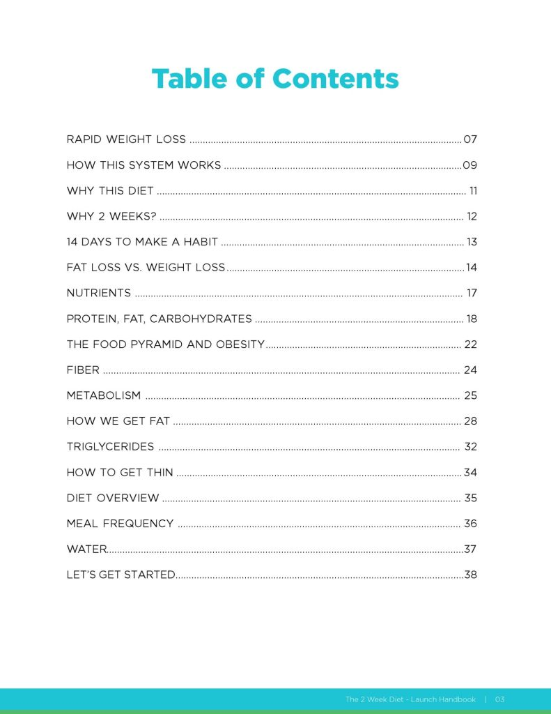 the 2 week diet pdf